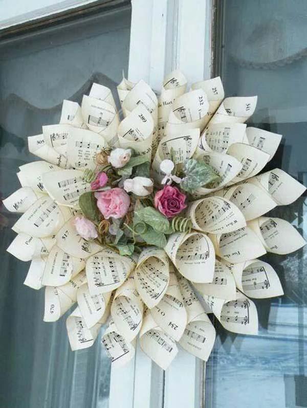 sheet-music-paper-cone-wreath