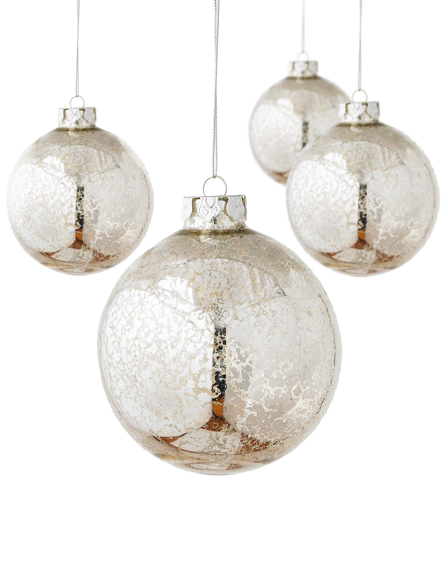 Silver christmas ball ornament for Silver ornaments for living room