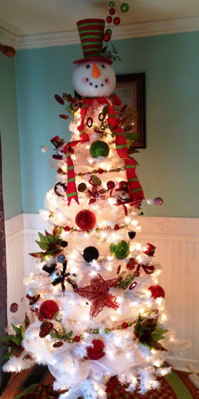 snowman-christmas-tree-decorating-idea