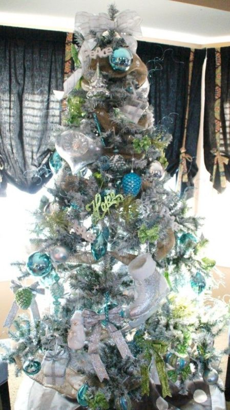 Turquoise And Green Christmas