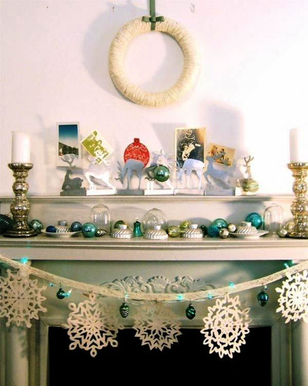 white-christmas-mantel-decorating-ideas