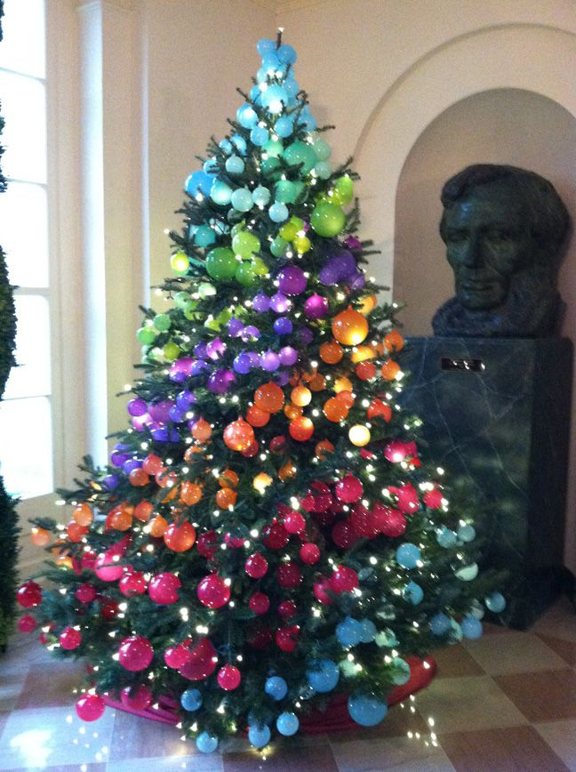 Different Colored Christmas Trees
