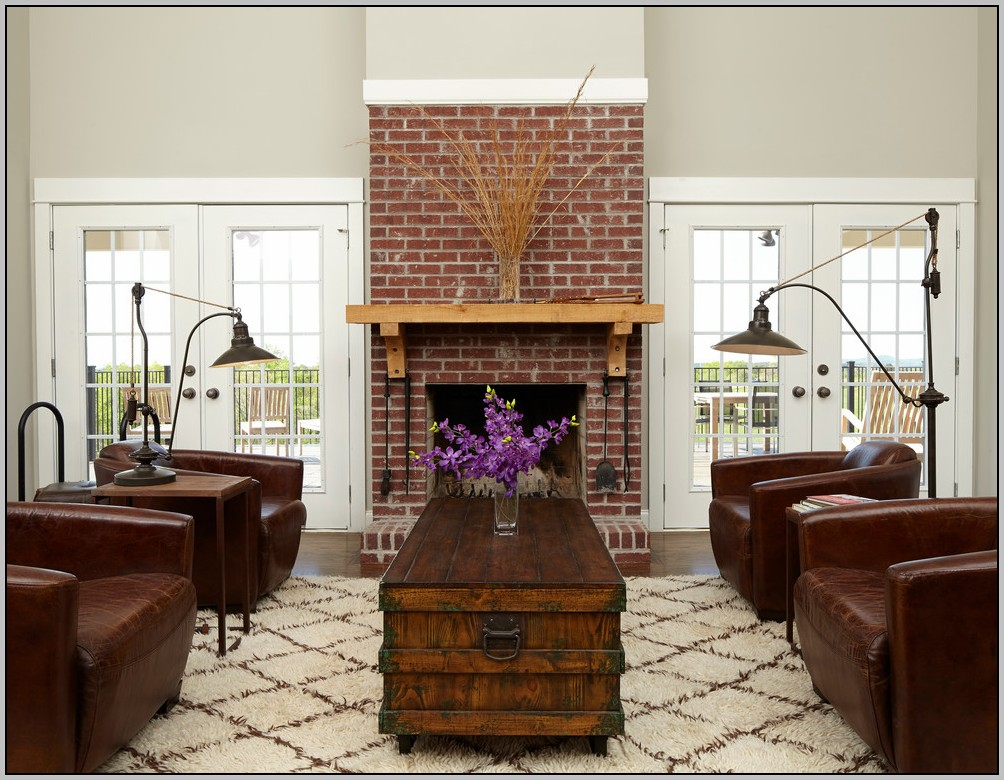 how to clean brick fireplace wall