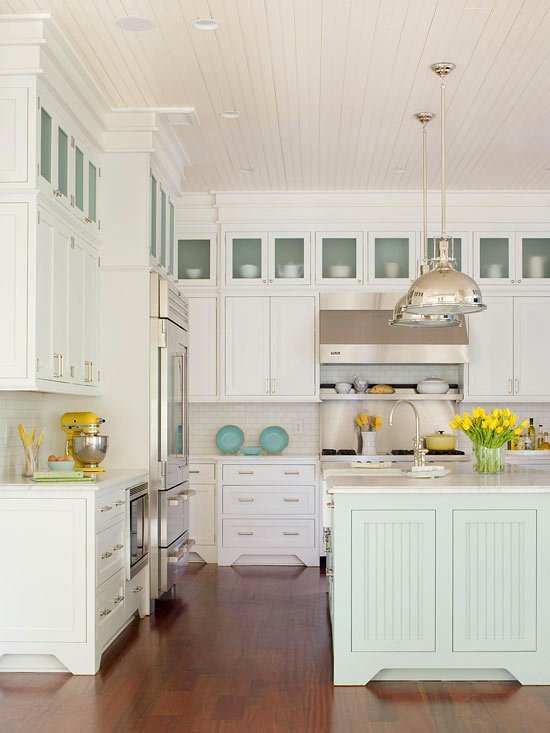 25 Beach Style Kitchen Design Ideas