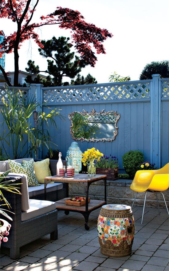 Cheerful Eclectic Outdoor Design