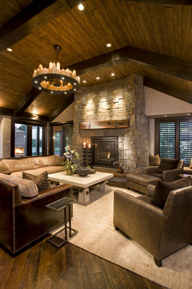 Cozy Rustic Southwestern Living Room Design
