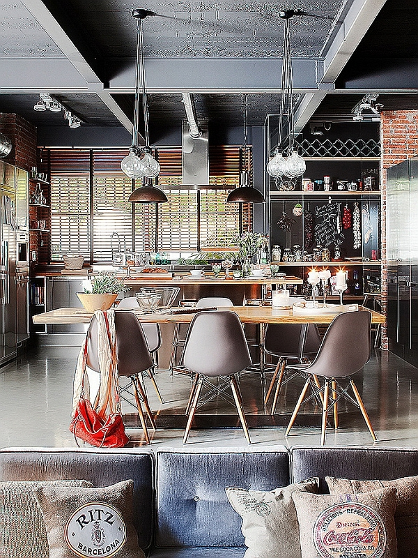 Exclusive Industrial Dining Room Design