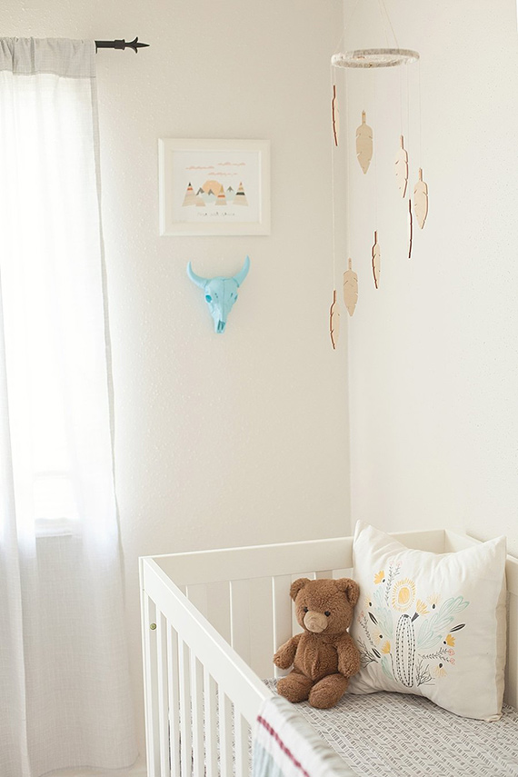 Feather Southwestern Kids Room Design