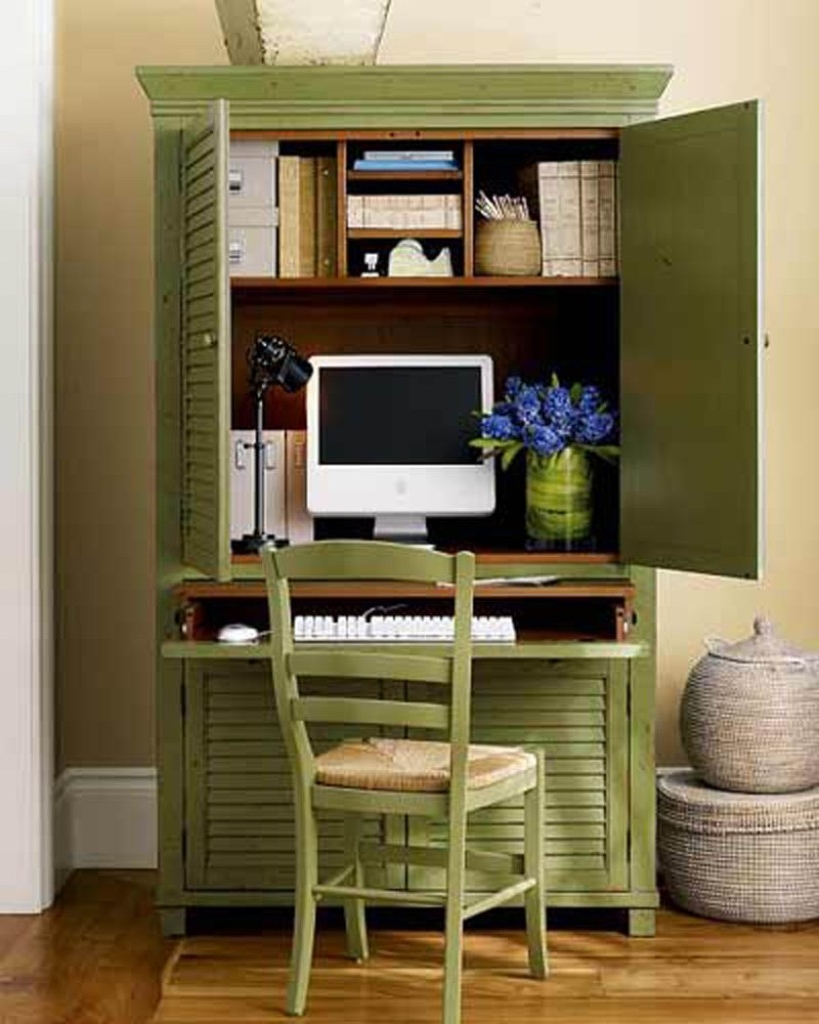 Green Rustic Home Office Design Ideas