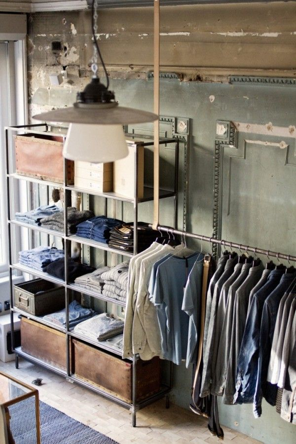 Open Industrial Closet Design