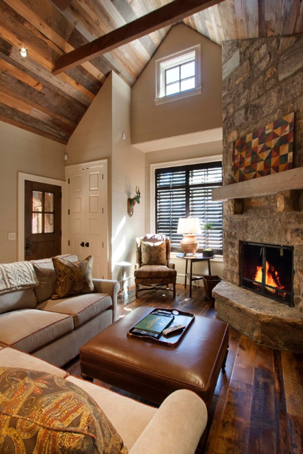 Rustic Ceiling Designs for Living Room