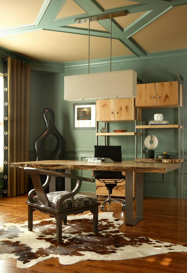 Rustic Eclectic Modern Home Office Design
