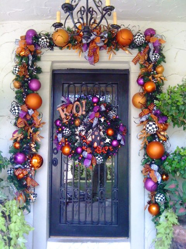 Colorful Halloween Door Decorations