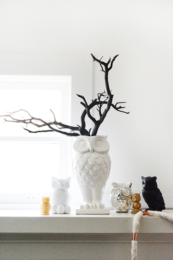 Modern Halloween Decorations in Black and White