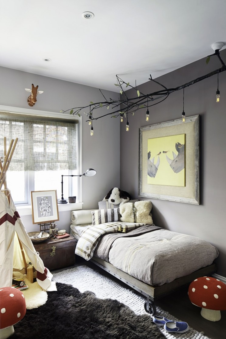 Amusing Grey Teenage Unique Bedroom Design