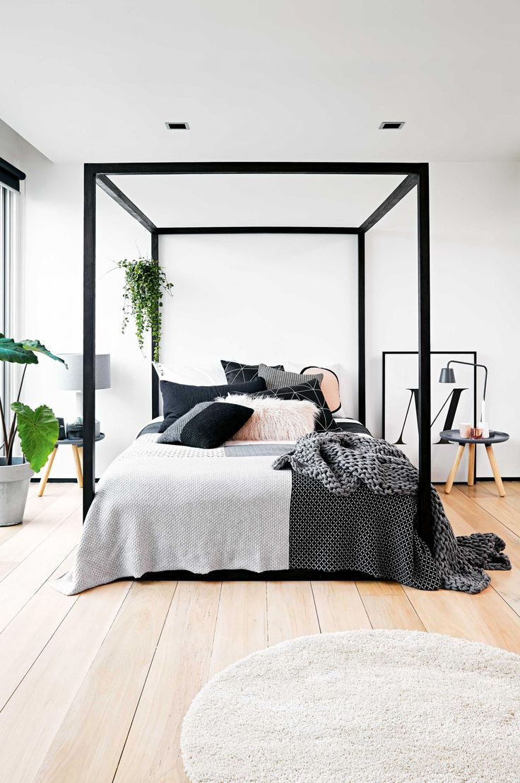 Black And White Modern Bedroom Design