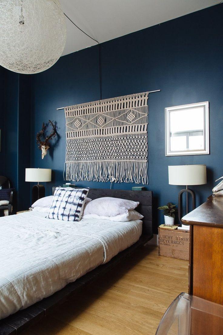 Navy & Dark Blue Bedroom Design