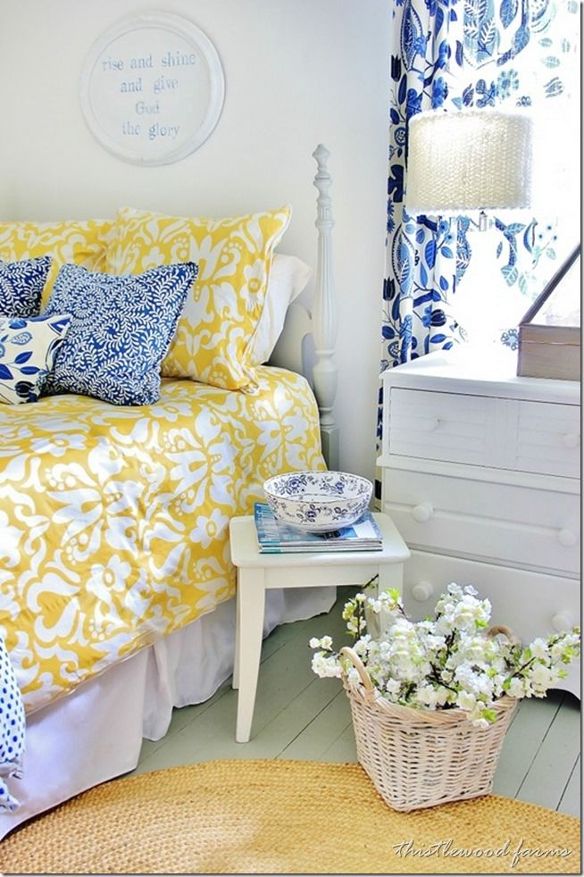 Blue and Yellow Bedroom Decor Ideas