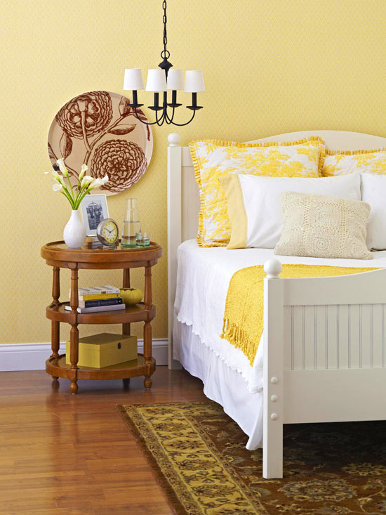 Cool Yellow Bedroom Decorating Ideas