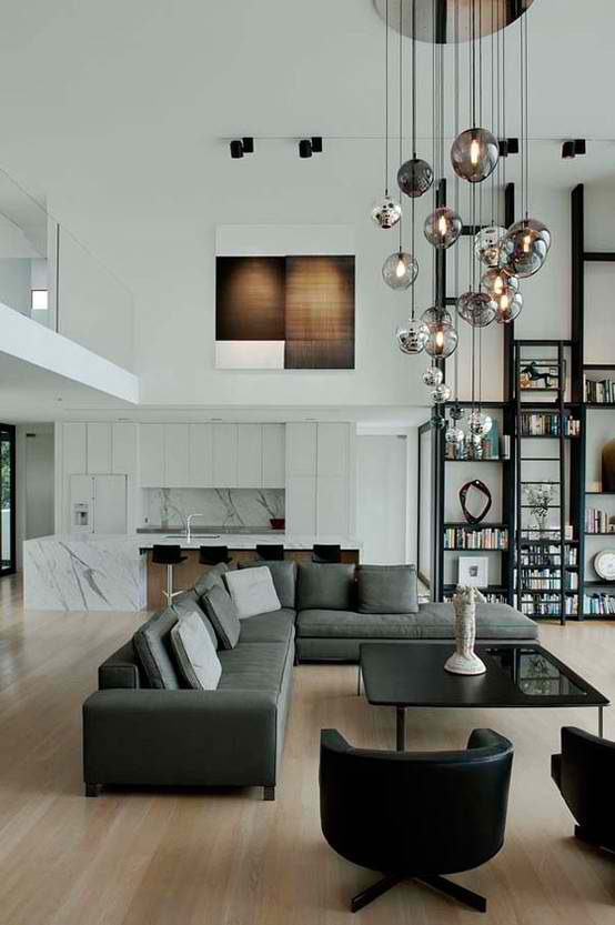 Decorate High Ceiling Living Room