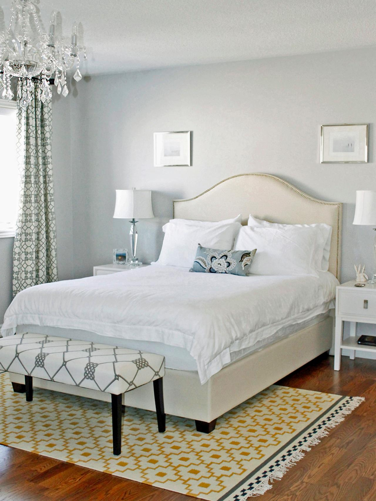 Light Grey and White Bedroom