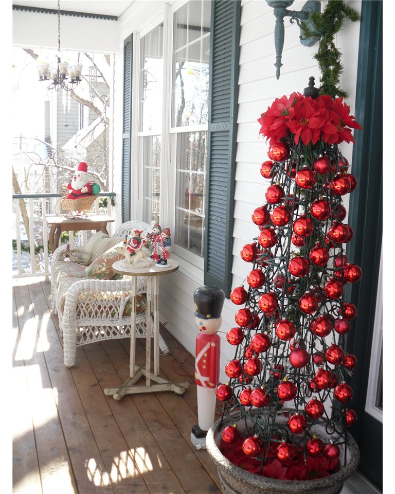 Awesome Front Porch Christmas Decorating Ideas
