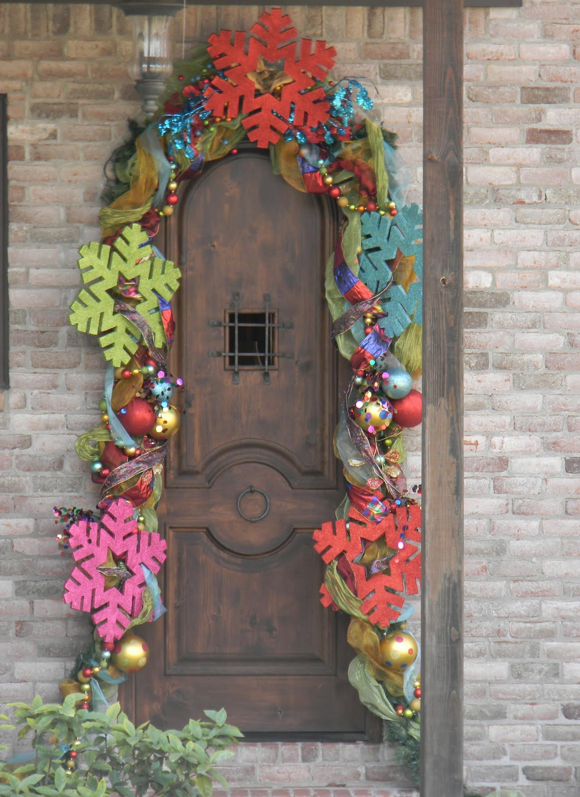 Colorful Christmas Door Decorations