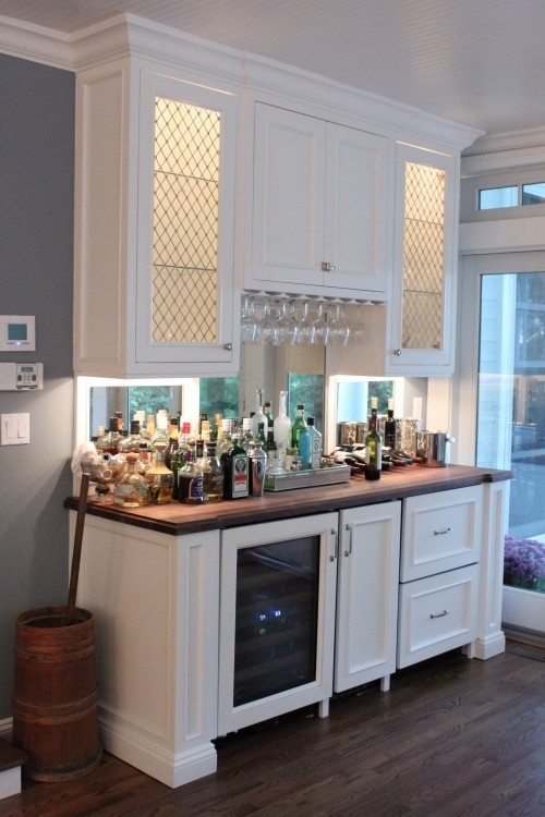 Diy White Kitchen Wet Bar