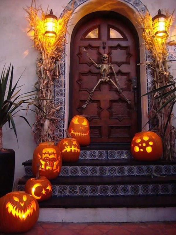 Halloween Front Entry Decor
