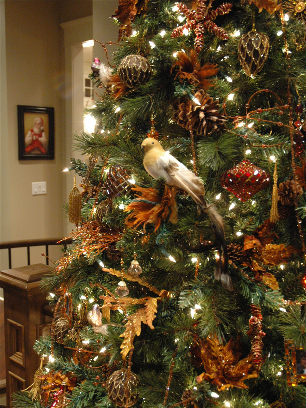 Natural Christmas Tree Decorating Ideas 2016