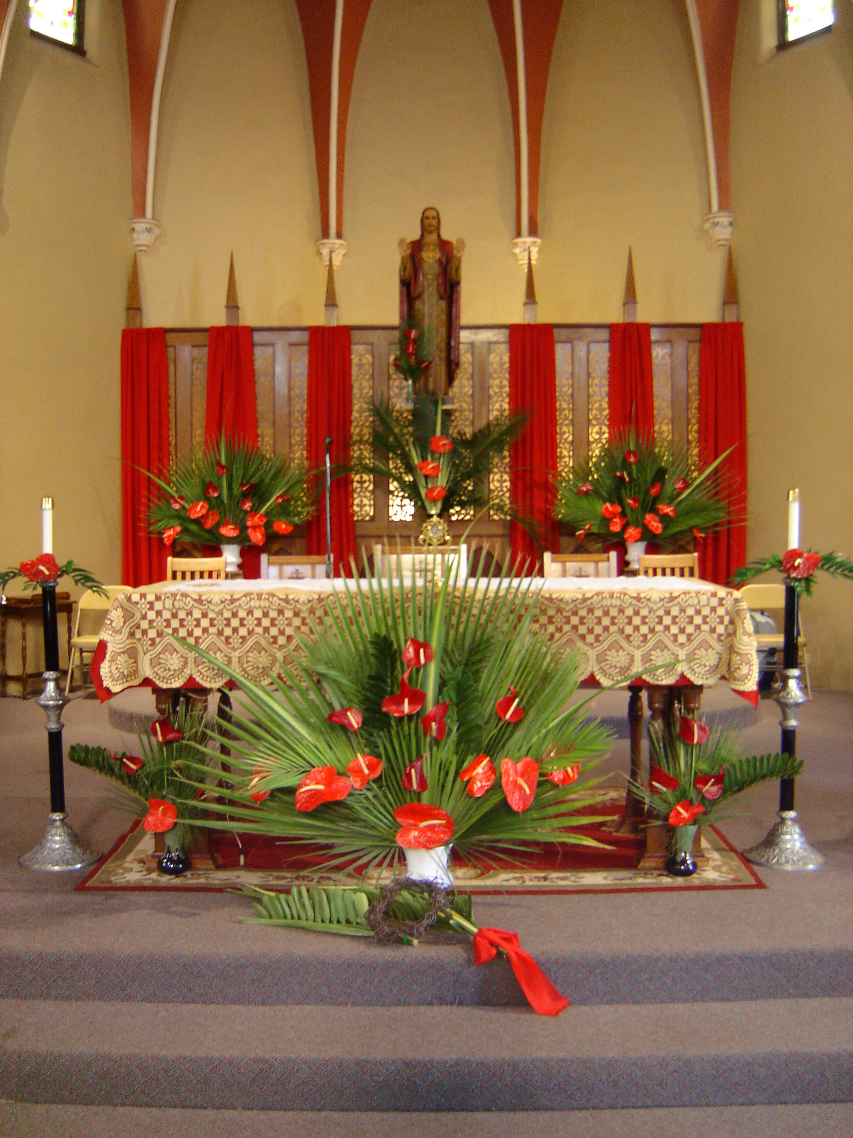Palm Sunday Decorations Church