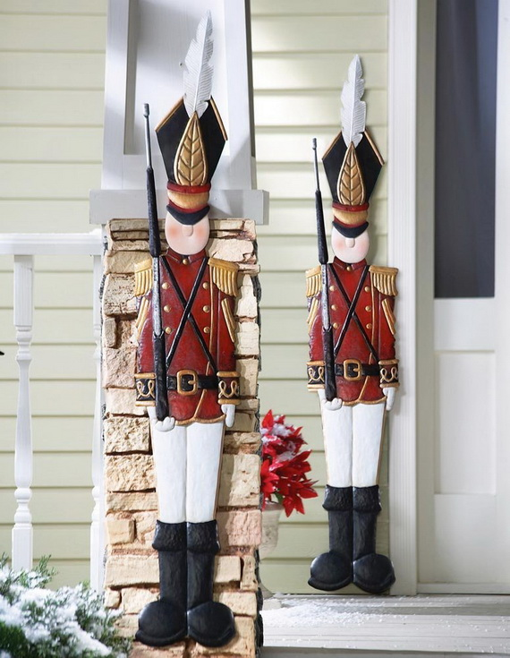 Tin Soldier Outdoor Christmas Decorations