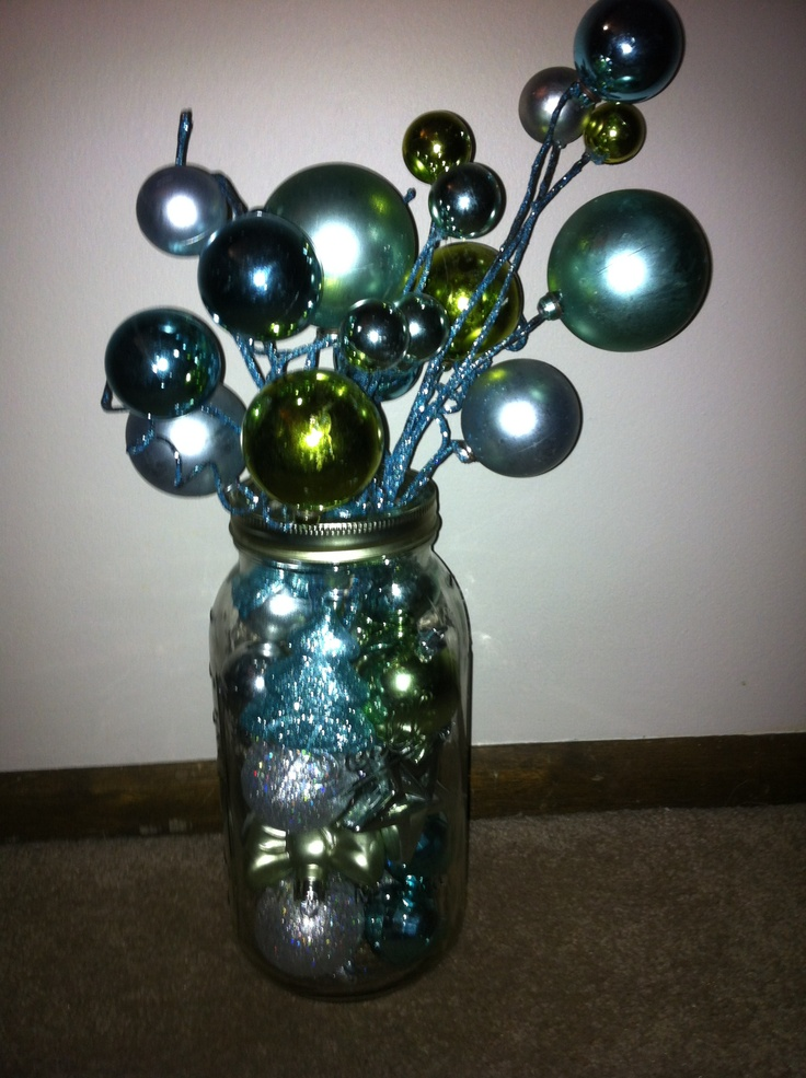 Christmas Decorating Mason Jars