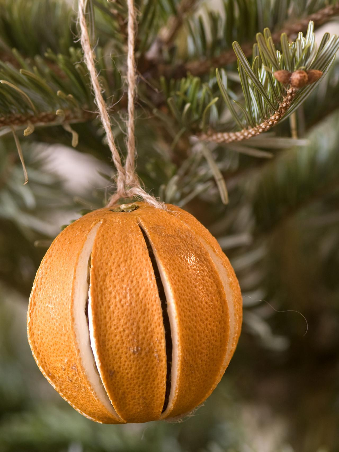 Dried Orange Christmas Tree Decoration