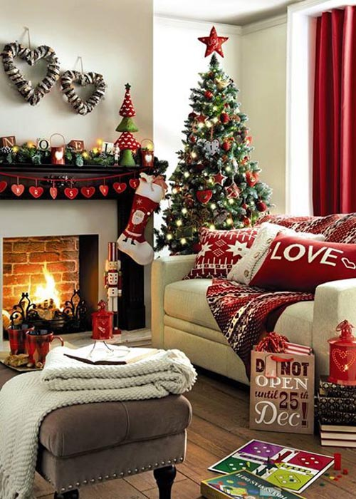Living Room Decorate for Christmas