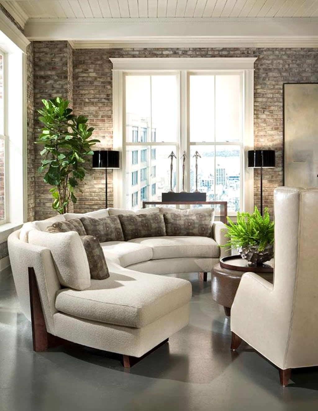 living-room-design-with-sectional-and-ottoman
