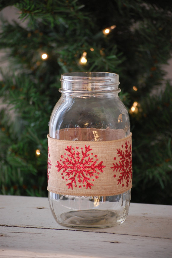 Mason Jar Christmas Centerpiece Decorations