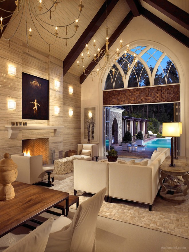 modern-living-room-with-vaulted-ceiling
