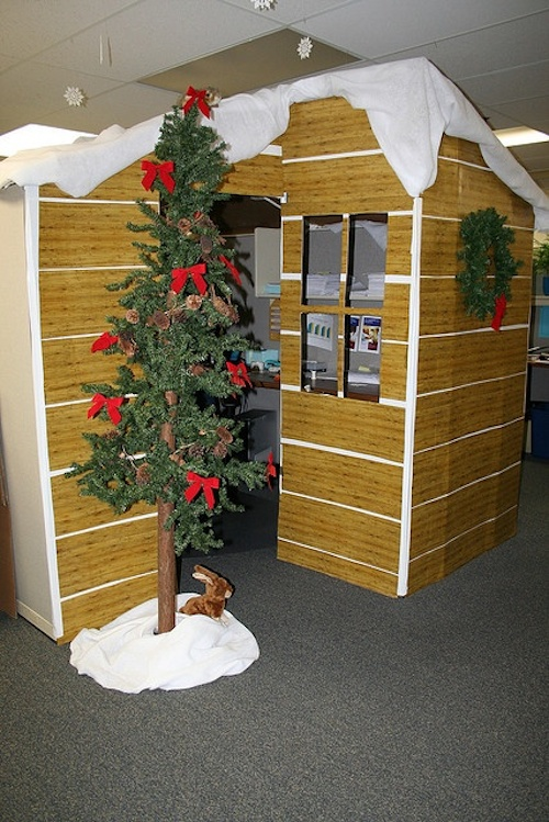 Office Cube Christmas Decorating
