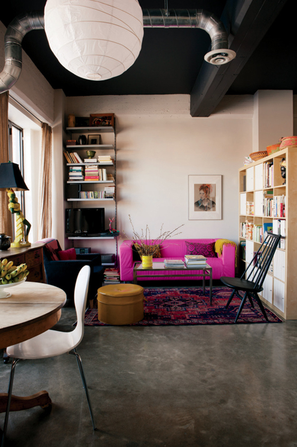 pink-and-magenta-living-room