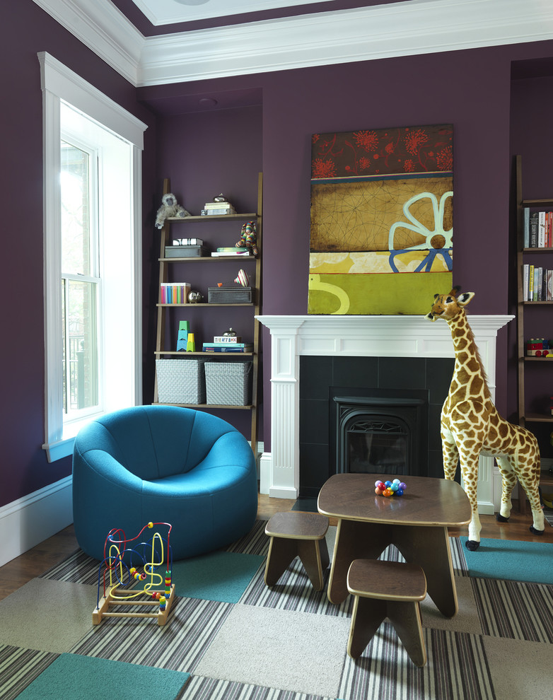 purple-kid-rooms-with-dark-walls