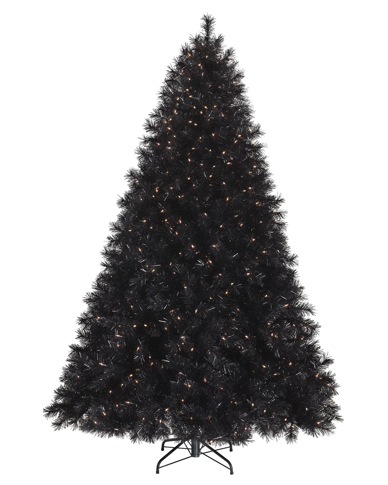 black-artificial-christmas-tree-design