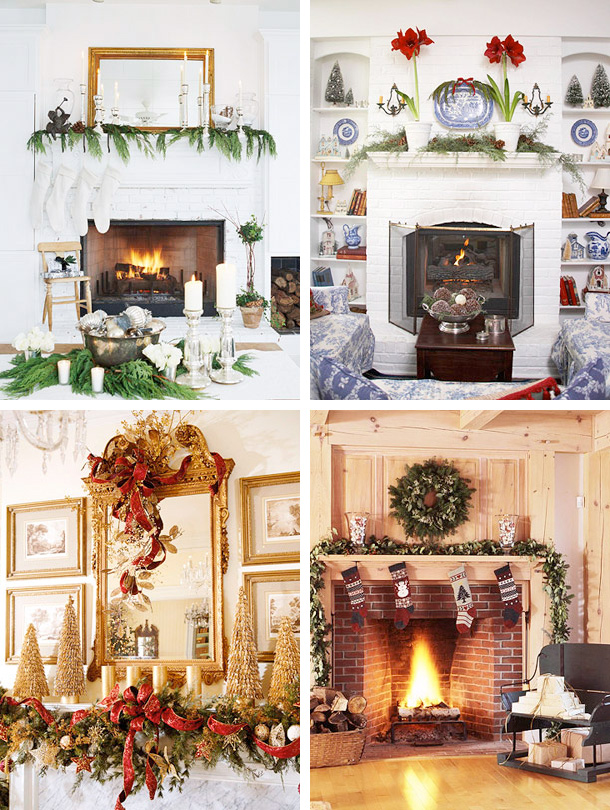fireplace-mantel-christmas-decorating-ideas