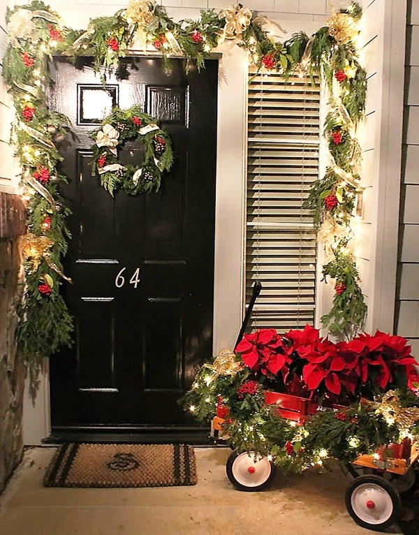 front-porch-decorating-for-christmas-with-red-wagon