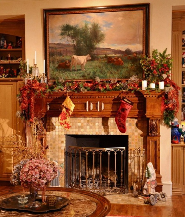 gorgeous-christmas-fireplace-decorations-ideas