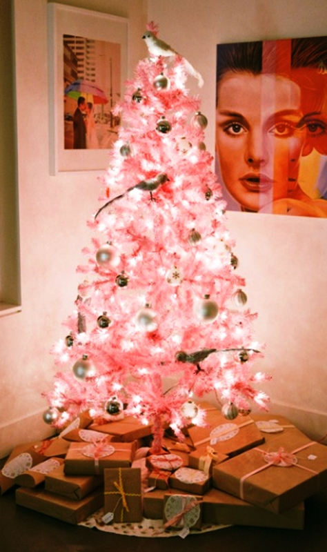 pink-christmas-tree-decorating-ideas
