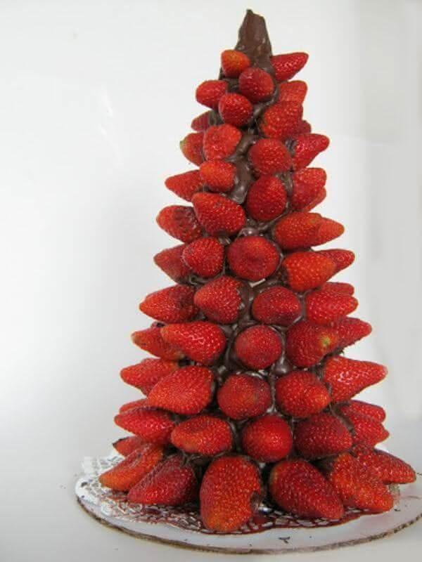 10. Strawberry and chocolate tree