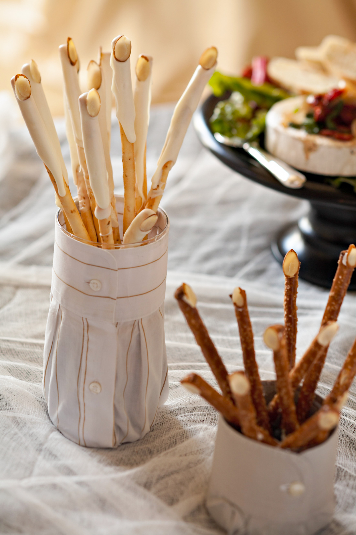 12. Crispy witch's fingers made from sweet straws