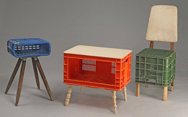 13. Furniture with crates