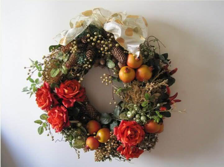 23.Wreath with fruits and flowers
